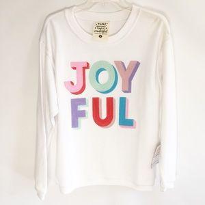 """Jadelyn Brooke """"Joyful"""" white sweatshirt. Small"""